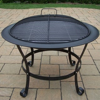 Oakland Living Corporation Saginaw Black Wrought Iron 30-inch Round Fire Pit