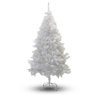 Perfect Holiday Crystal White PVC 5-foot Christmas Tree