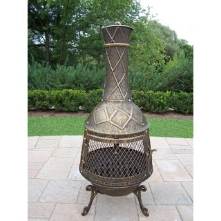 Oakland Living Corporation Bronze Finish Wrought Iron Diamond Chimenea