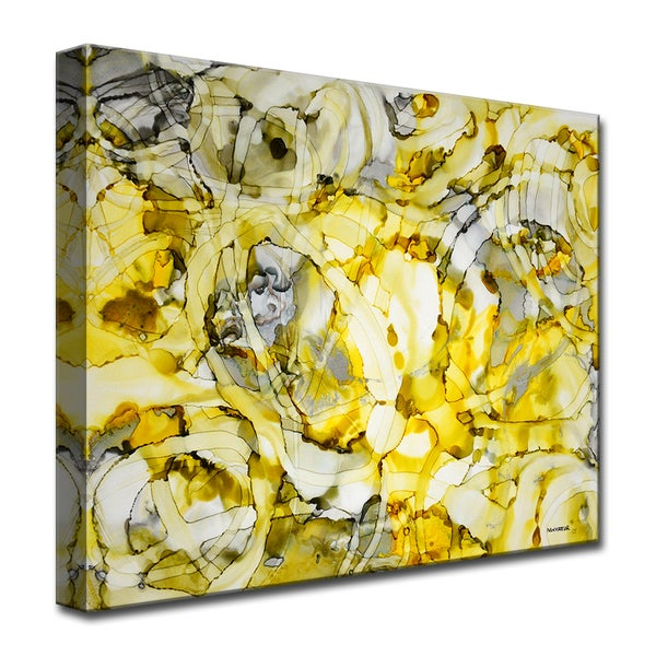 Moon and Stars' by Norman Wyatt, Jr. Abstract Wrapped Canvas Wall Art