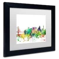 Marlene Watson 'San Francisco California Skyline SP' Matted Framed Art