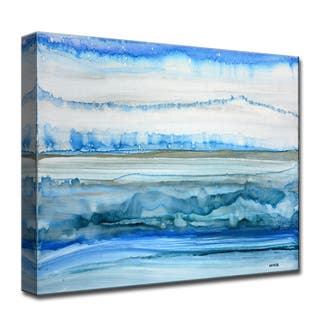 Frigid Morning' by Norman Wyatt, Jr. Abstract Wrapped Canvas Wall Art