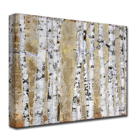 October Birch Grove' by Norman Wyatt, Jr. Wrapped Canvas Wall Art