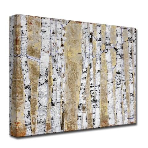 October Birch Grove' by Norman Wyatt, Jr. Wrapped Canvas Wall Art
