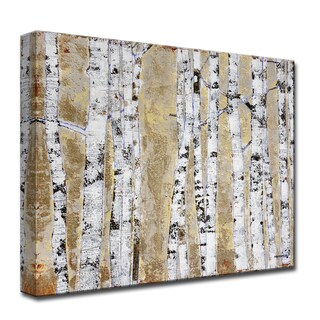 Ready2HangArt 'October Birch Grove' by Norman Wyatt, Jr. Canvas Art