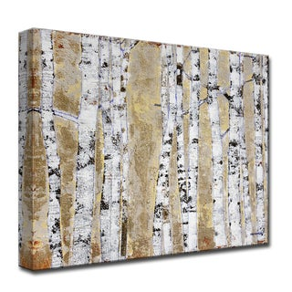 Ready2HangArt 'October Birch Grove' by Norman Wyatt, Jr. Canvas Art (4 options available)