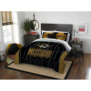 The Northwest Company Missouri Modern Take Black and Gold Polyester Full/Queen 3-piece Comforter Set