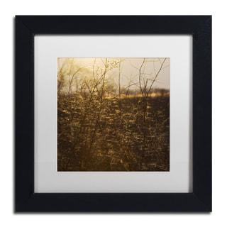 Kurt Shaffer 'Winters Golden Glow' Matted Framed Art