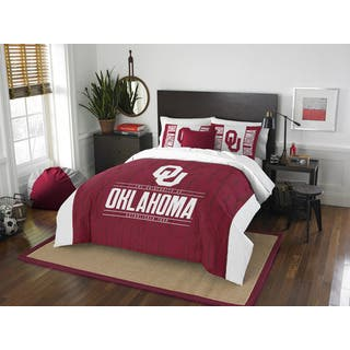 The Northwest Co Oklahoma Modern Take White and Red Polyester Full/Queen 3-piece Comforter Set|https://ak1.ostkcdn.com/images/products/13254141/P19967478.jpg?impolicy=medium
