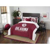 The Northwest Co Oklahoma Modern Take White and Red Polyester Full/Queen 3-piece Comforter Set