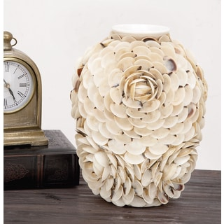 Urban Designs Handcrafted Shell Ceramic Vase