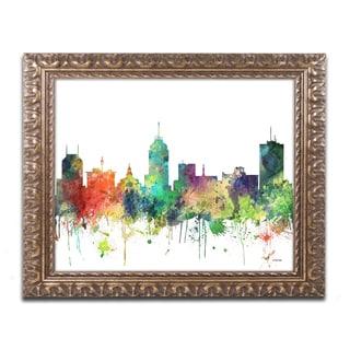 Marlene Watson 'Fresno California Skyline SP' Ornate Framed Art