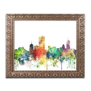 Marlene Watson 'Boston Mas. Skyline SP' Ornate Framed Art