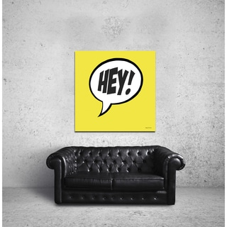 Maxwell Dickson 'HEY!' Modern Canvas Wall Art