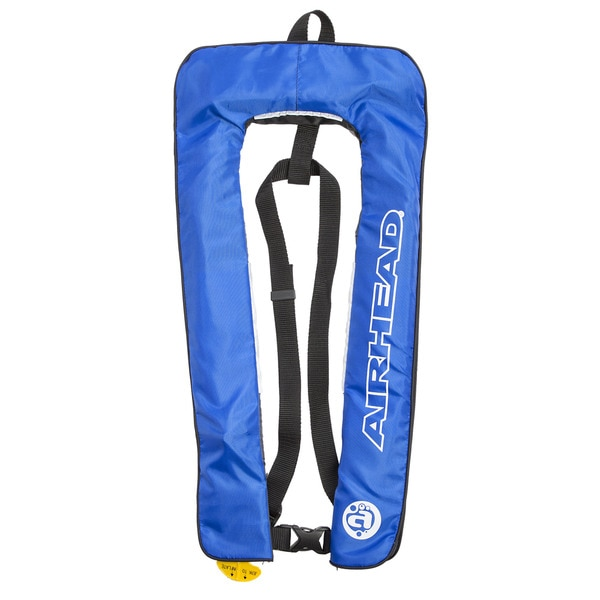 Airhead Inflatable Blue Polyester Personal Floatation Device