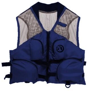 Airhead Blue Nylon Small/Medium Deluxe Mesh Top Fishing Vest