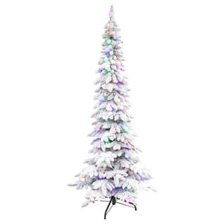 Puleo International 7.5' Pre-lit Whistler Pine Flocked Tree|https://ak1.ostkcdn.com/images/products/13254272/P19967624.jpg?impolicy=medium