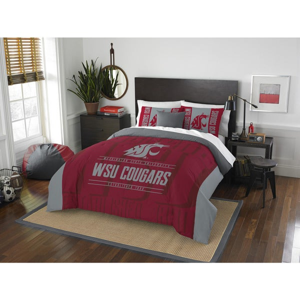 The Northwest Company COL 849 Washington State Modern Take Red/Grey Full/Queen 3-piece Comforter Set