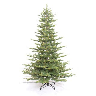 Puleo International 7.5' Pre-lit Aspen Green Fir Tree