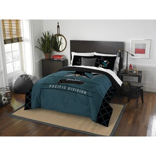The Northwest Company NHL San Jose Sharks Draft Full/Queen 3-piece Comforter Set