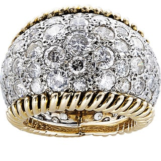 14k Yellow Gold 5ct TDW White Diamond Eternity Dome Estate Ring Size 5.25 (H-I, SI1-SI2)