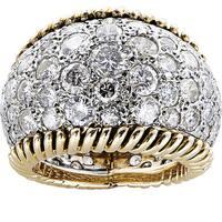 14k Yellow Gold 5ct TDW White Diamond Eternity Dome Estate Ring Size 5.25 (H-I, SI1-SI2)