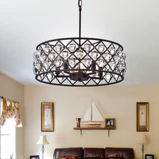 style light crystal crystals wide iron plus finish chandeliers leaf lamps and with chandelier bronze products