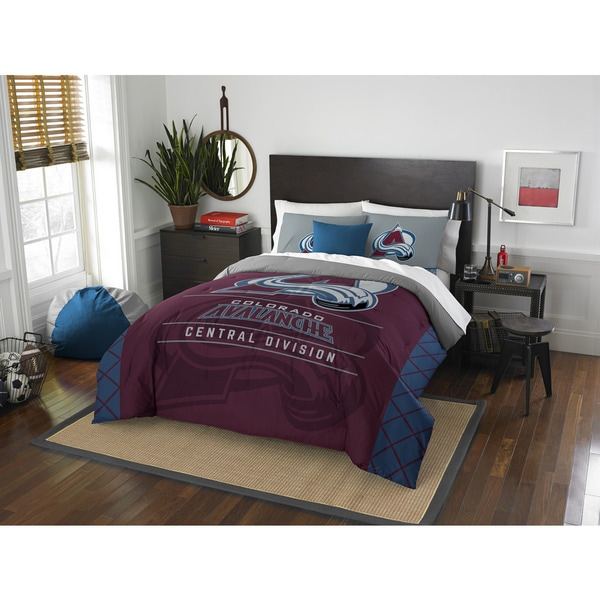 The Northwest Company NHL Colorado Avalanche Draft Blue/Red Full/Queen 3-piece Comforter Set