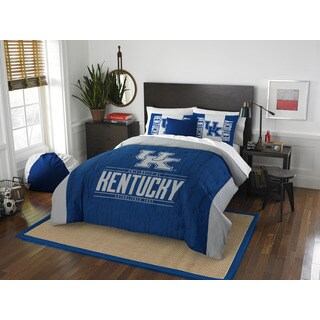 The Northwest Company University of Kentucky Blue/Grey Polyester Full/Queen 3-piece Comforter Set