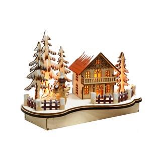 Illuminated Wooden Christmas House