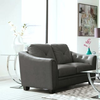 Lacasta Mid Century Modern Tufted Design Grey Living Room Love Seat