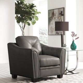 Lacasta Mid Century Modern Tufted Design Grey Living Room Chair
