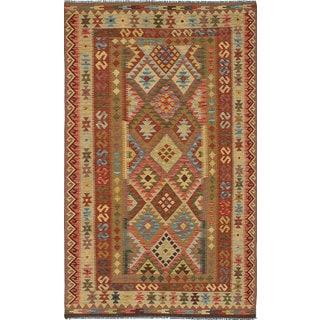 eCarpetGallery Anatolian Kilim Brown Wool Hand-woven Rug (4'11 x 8'8)
