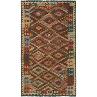 eCarpetGallery Multicolored Wool Handwoven Sivas Kilim Rug (4'9 x 8'2)