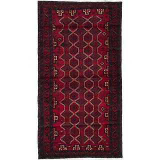 eCarpetGallery Hand-knotted Finest Baluch Red Wool Rug (2'11 x 5'8)