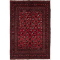 eCarpetGallery Hand-knotted Khal Mohammadi Red Wool Rug (5'3 x 7'7)