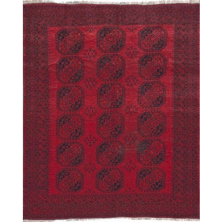 eCarpetGallery Vintage Tribal Red Wool Hand-knotted Area Rug (9'2 x 10'11)