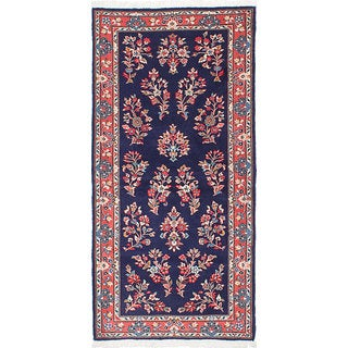 eCarpetGallery Sarough Blue Wool Hand-knotted Area Rug (2'10 x 6'0)