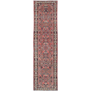 eCarpetGallery Multicolored Wool Hand-knotted Hosseinabad Rug (2'7 x 9'8)