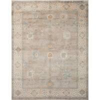 eCarpetGallery Grey Wool Hand-knotted Royal Ushak Rug (9'1 x 11'10)