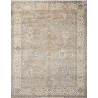 eCarpetGallery Grey Wool Hand-knotted Royal Ushak Rug (9'1 x 11'10)