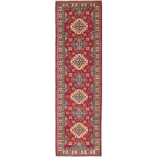 eCarpetGallery Ivory/Red Wool Hand-knotted Finest Gazni Rug (2'10 x 9'10)
