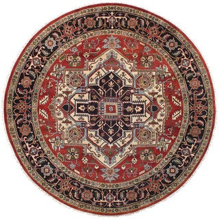 eCarpetGallery Serapi Heritage Brown Wool Hand-knotted Rug (9'7 x 9'7)
