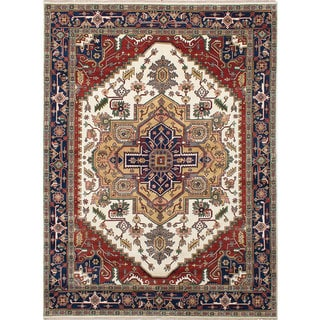 eCarpetGallery Ivory Wool Hand-knotted Serapi Heritage Rug (9'0 x 12'0)