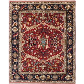 eCarpetGallery Hand-knotted Serapi Heritage Brown Wool Rug (7'10 x 9'10)