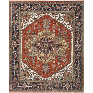 eCarpetGallery Brown Wool Hand-knotted Serapi Heritage Rug (8'0 x 9'10)