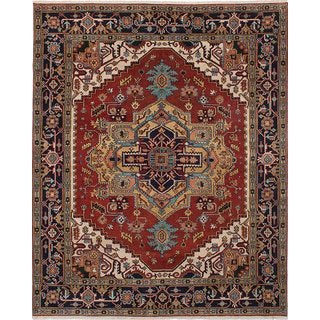 eCarpetGallery Multicolored Wool Hand-knotted Serapi Heritage Rug (7'11 x 9'10)
