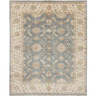 eCarpetGallery Royal Ushak Blue Wool Hand-knotted Rug (8'1 x 9'10)