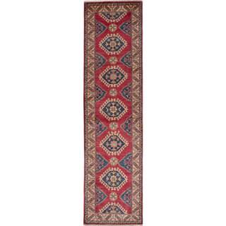 """ECARPETGALLERY Finest Gazni Red Wool Area Rug (2'7 x 10'8) - 2'7""""x10'8"""""""