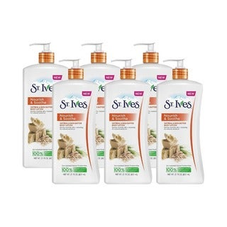 St. Ives Nourish and Soothe Oatmeal and Shea Butter 21-ounce Body Lotion (Pack of 6)